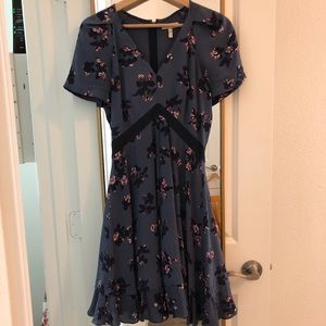 Size 0 purple Rebecca Taylor silk dress
